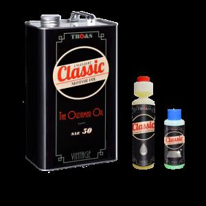 TBO&S Classic Motoröl SAE 50 Unlegiert, inkl. Bleiersatz/ Ventilreiniger und Scheibenreiniger